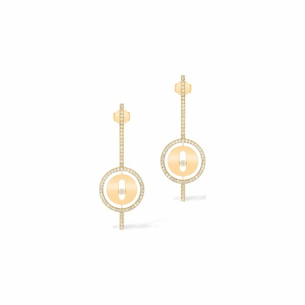 Boucles d'oreilles pendantes Messika Lucky Move Arrow en or jaune et diamants