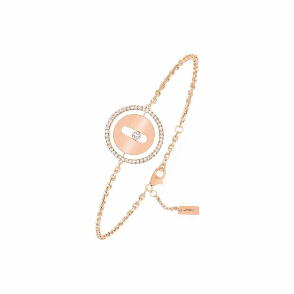 Bracelet sur chaine Messika Lucky Move PM en or rose et diamants