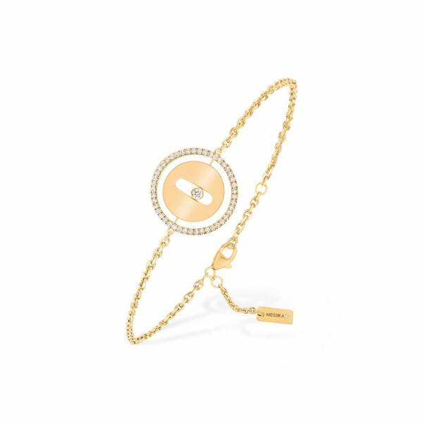 Bracelet sur chaine Messika Lucky Move PM en or jaune et diamants