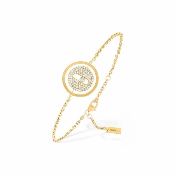 Bracelet sur chaine Messika Lucky Move pavé PM en or jaune et diamants