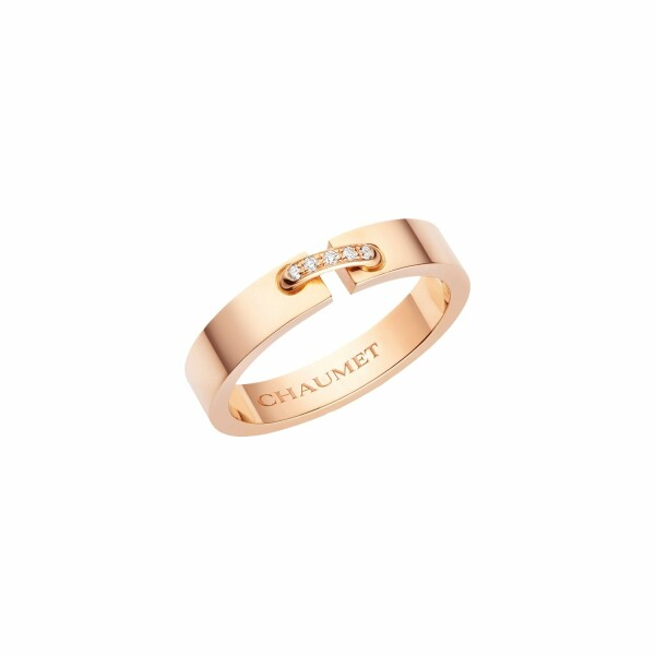 Alliance Chaumet Liens en or rose et diamants