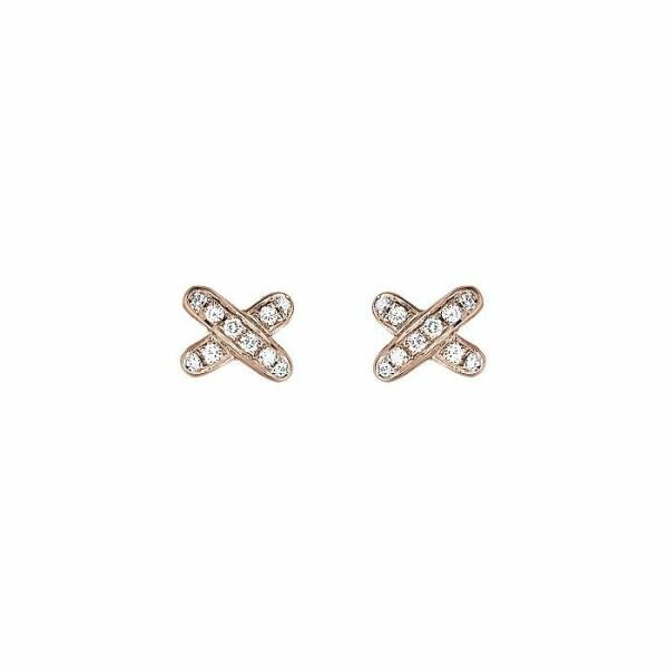Boucles d'oreilles Chaumet Premiers Liens en or rose et diamants