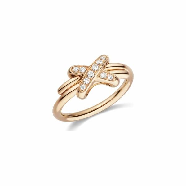 Bague Chaumet Premiers Liens en Or rose et Diamant