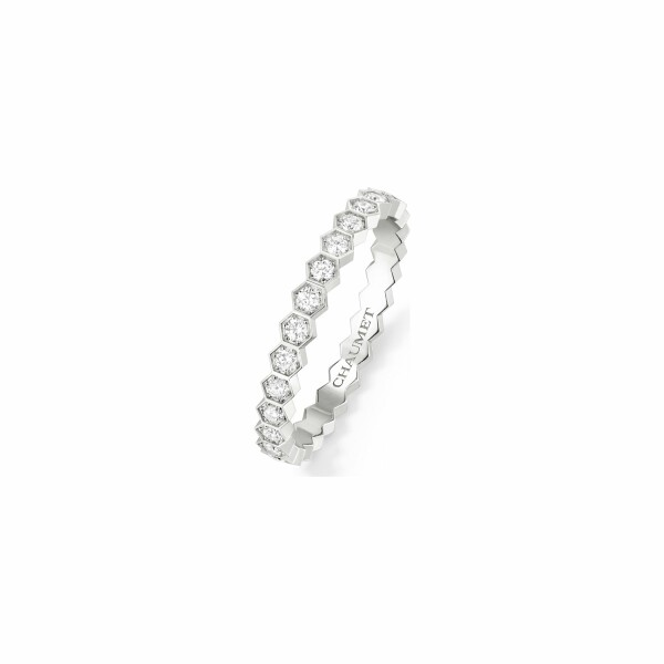 Alliance Chaumet Bee my love en or blanc et diamants