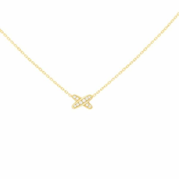 Pendentif Chaumet Premiers Liens en or jaune et diamants