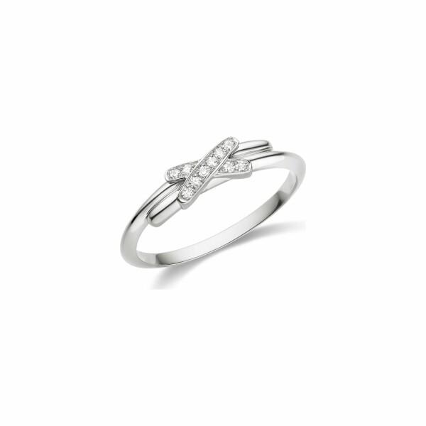 Bague Chaumet Premiers Liens en or blanc et diamants