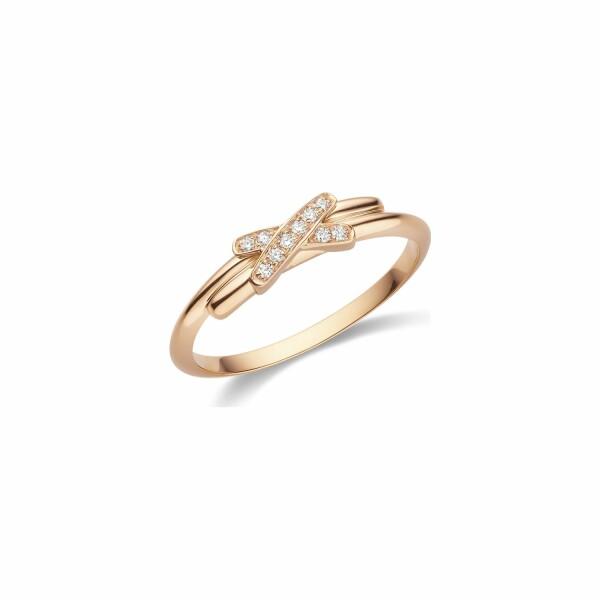 Bague Chaumet Premiers Liens en or rose et diamants