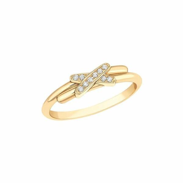 Bague Chaumet Premiers Liens en or jaune et diamants