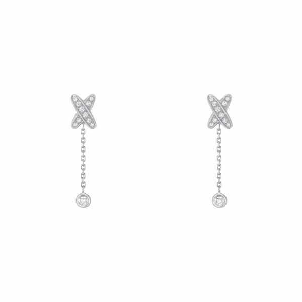 Boucles d'oreilles Chaumet Premiers Liens en Or blanc et Diamant
