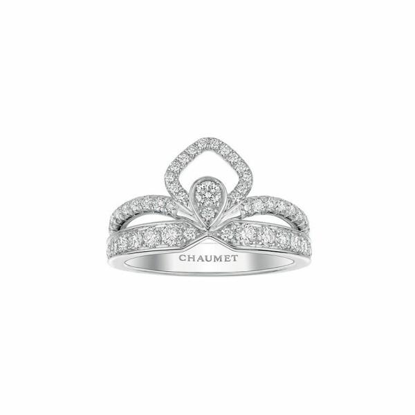 Bague Chaumet Joséphine Eclat Floral en or blanc et diamants
