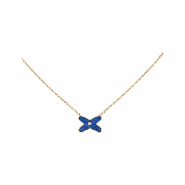 Pendentif Chaumet Jeux de Liens en Or rose Lapis Lazuli et Diamant