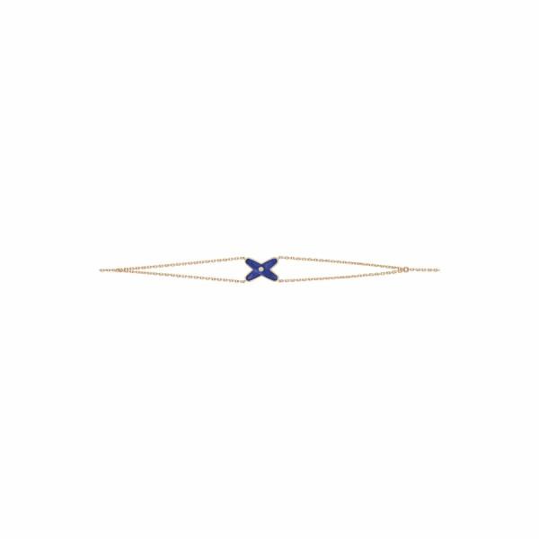Bracelet Chaumet Jeux de Liens en or rose, diamant et lapis lazuli