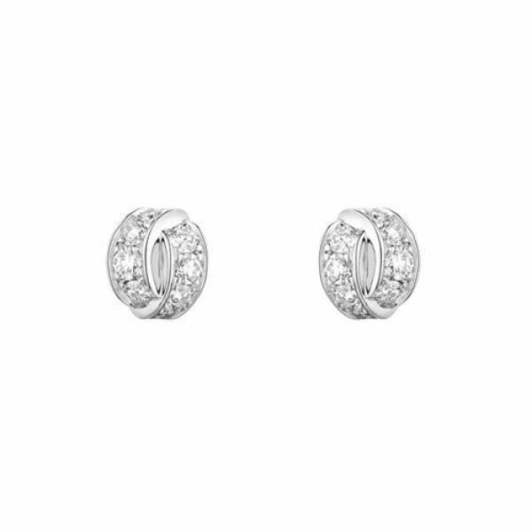 Boucles d'oreilles Chaumet Liens Séduction en or blanc et diamants