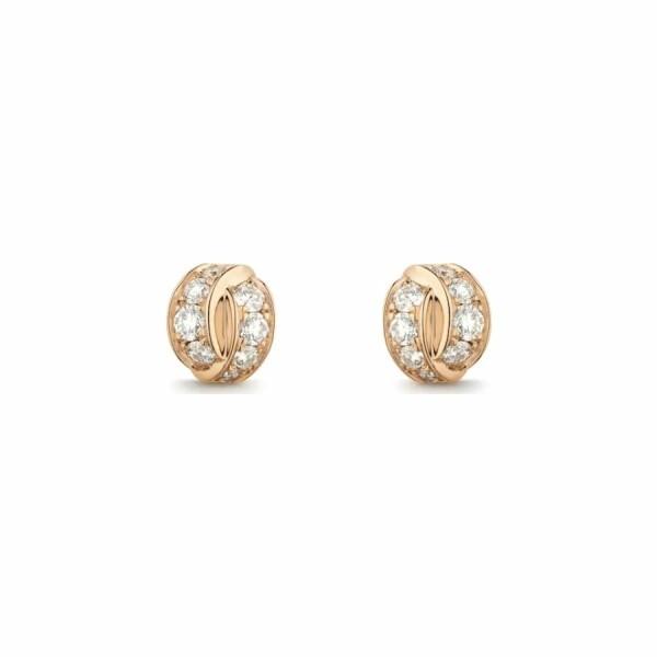 Boucles d'oreilles Chaumet Liens Séduction en or rose et diamants