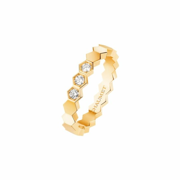 Bague Chaumet Bee my love en or jaune et diamants