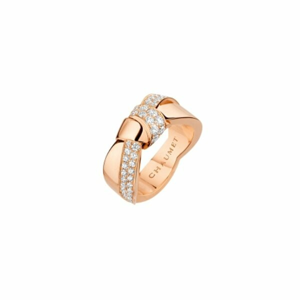 Bague Chaumet Liens Séduction en or rose et diamants