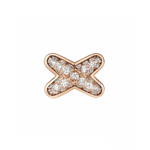 Mono boucle d'oreille Chaumet Jeux de Liens en or rose et diamants