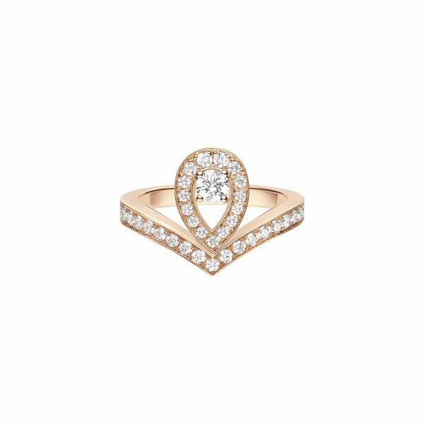 Bague Chaumet Joséphine Aigrette en or rose et diamants