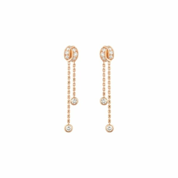 Boucles Chaumet Liens Séduction en or rose et diamants