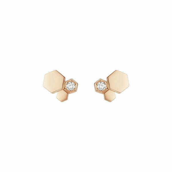 Boucles d'oreilles Chaumet Bee my love en or rose