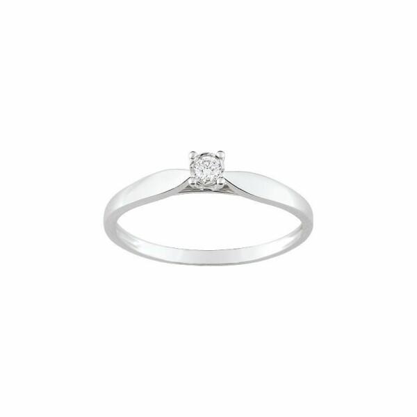 Solitaire en or blanc et diamant de 0.052ct