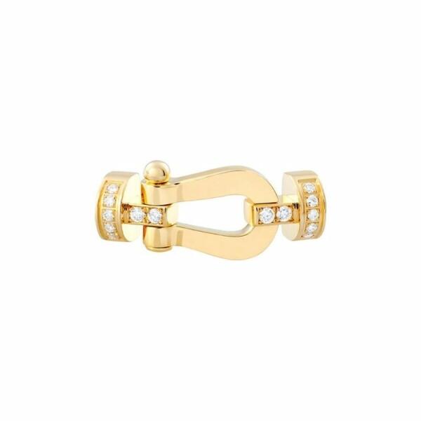 Manille moyen modèle FRED Force 10 en or jaune et diamants