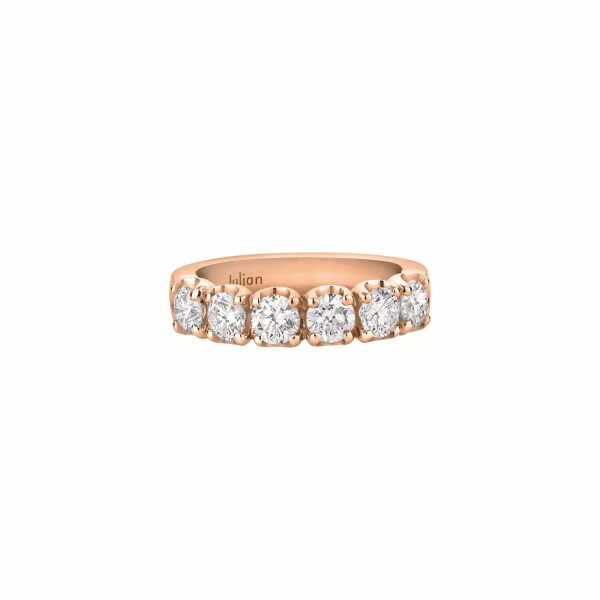 Demi Alliance CR  diamants taille brillant en or rose