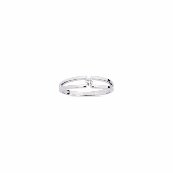 Bague en or blanc et diamant de 0.08ct