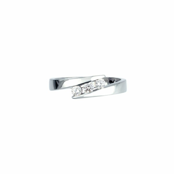 Bague en or blanc et diamants de 0.24ct