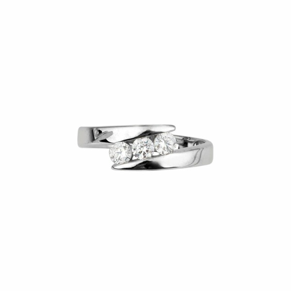 Bague en or blanc et diamants de 0.42ct