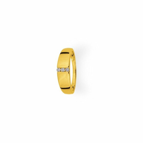 Bague en or jaune et diamants de 0.06ct