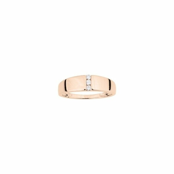 Bague en or rose et diamants de 0.06ct