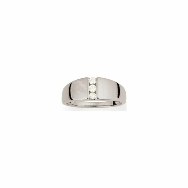 Bague en or blanc et diamants de 0.12ct