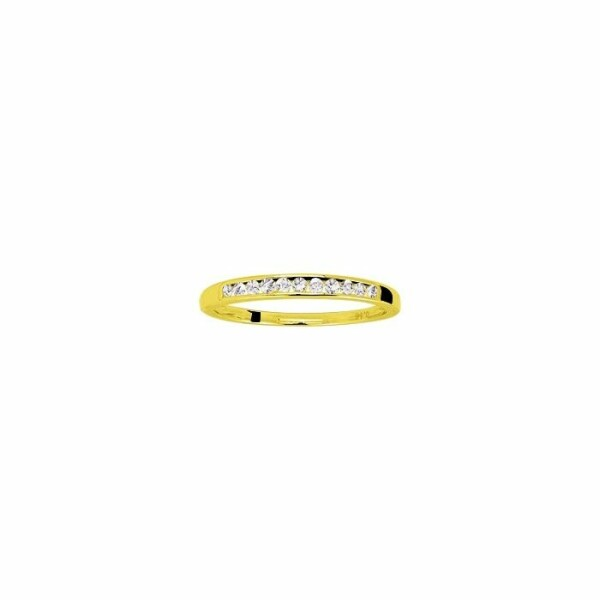 Alliance en or jaune et diamants de 0.15ct