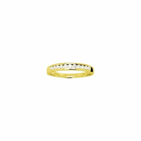 Alliance en or jaune et diamants de 0.22ct