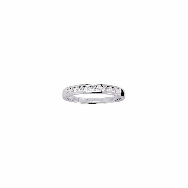 Alliance en or blanc et diamants de 0.22ct