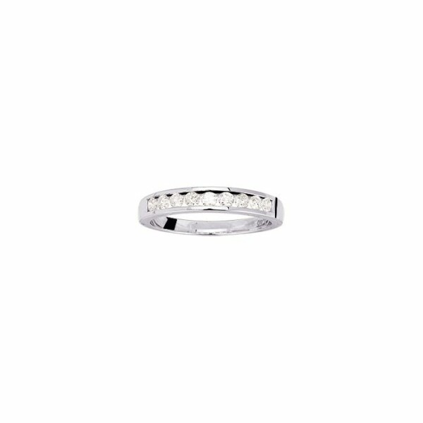 Alliance en or blanc et diamants de 0.40ct