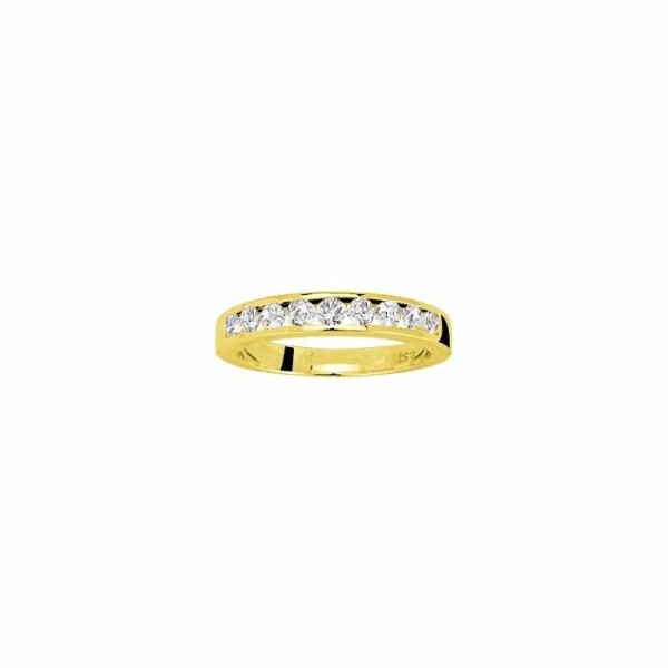 Alliance en or jaune et diamants de 0.54ct