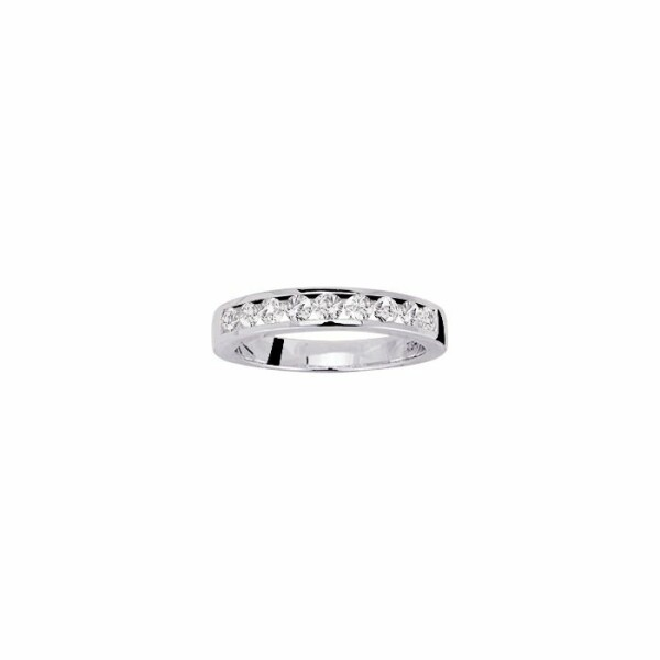 Alliance en or blanc et diamants de 0.60ct