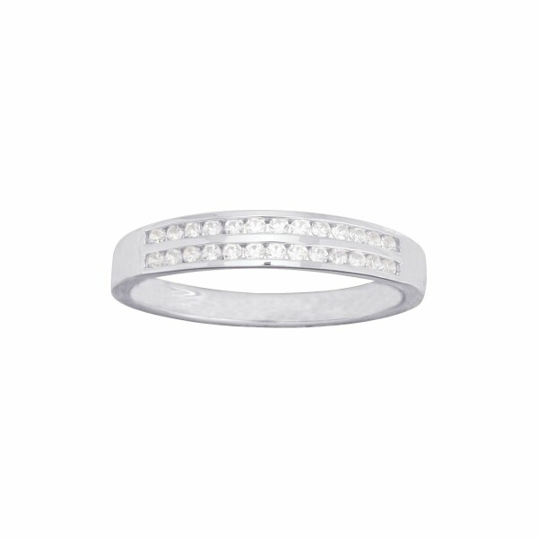 Alliance en or blanc et diamants de 0.12ct