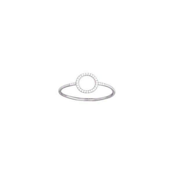 Bague en or blanc et diamants de 0.06ct