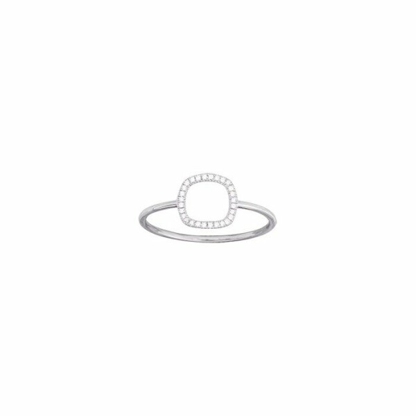 Bague en or blanc et diamants de 0.05ct