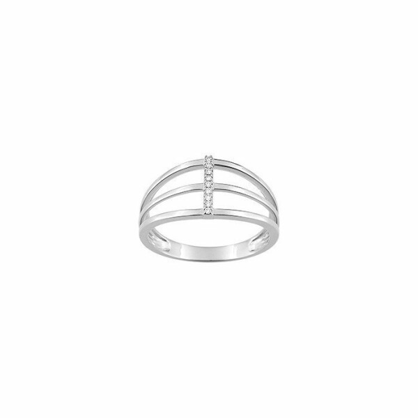 Bague en or blanc et diamants de 0.03ct