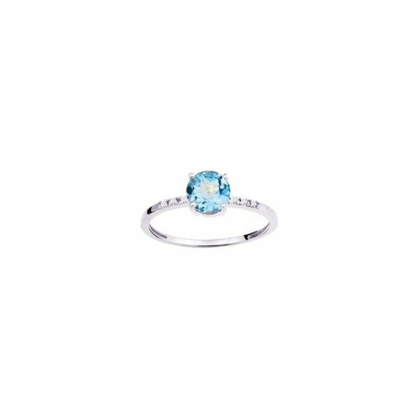 Bague en or blanc et diamant de 0.02ct