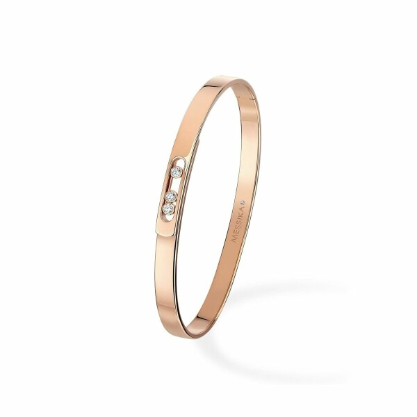 Bracelet bangle Messika Move Noa en or rose et diamants