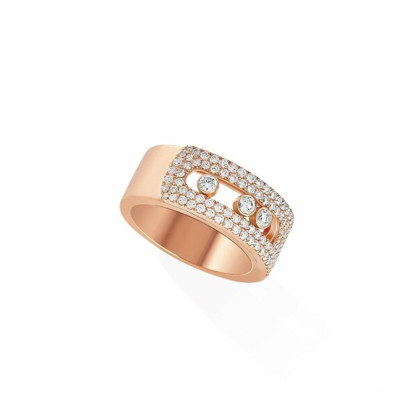 Bague Messika Move Noa en or rose et diamants