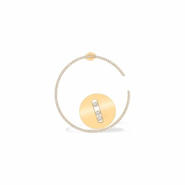 Mono boucle d'oreille Messika Lucky Move en or jaune et diamants