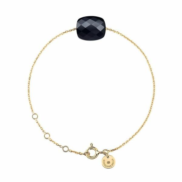 Bracelet Morganne Bello Friandise en or jaune et onyx