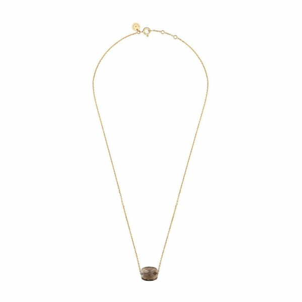 Collier Morganne Bello Friandise en or jaune et quartz fumé