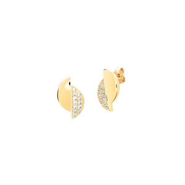 Boucles d'oreilles Murat en plaqué or jaune et oxydes de zirconium